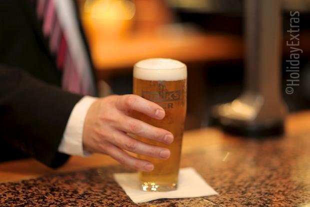 Enjoy a pint at the Airport Inn