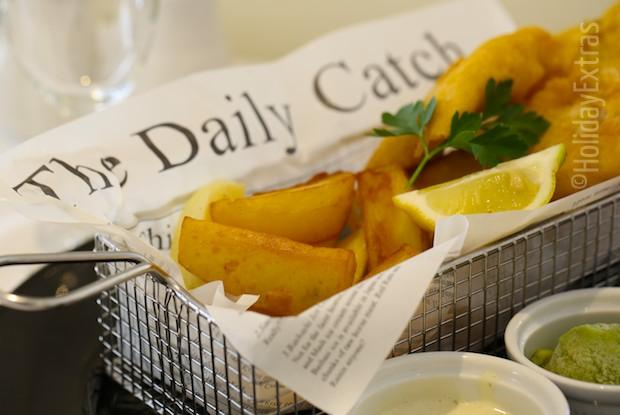 Fish and chips at the Mercure Bowdon