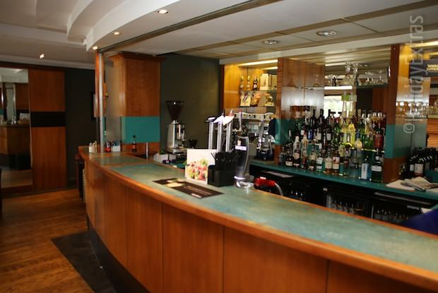 The bar at the Mercure Bowdon