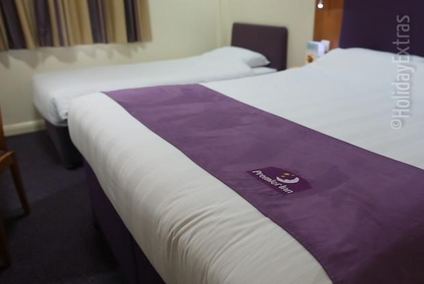 A triple at the Premier Inn Manchester airport North