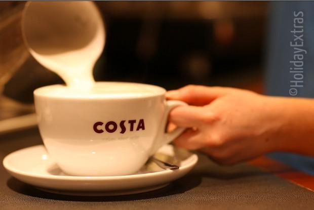 Costa coffee at the Premier Inn Manchester airport North