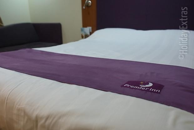 A double at the Premier Inn Manchester airport South