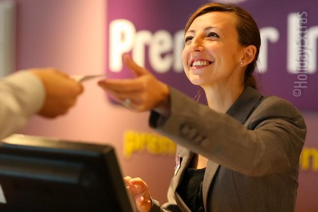 Reception at the Premier Inn Manchester airport South