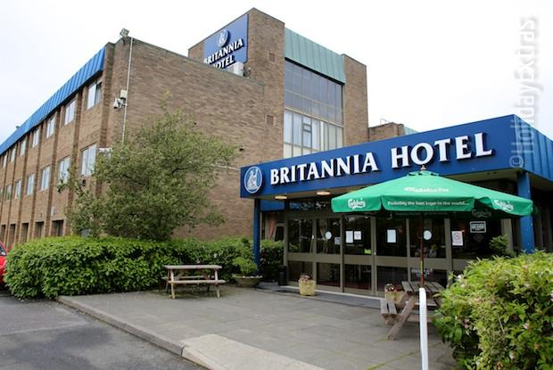 Outside the Britannia Hotel