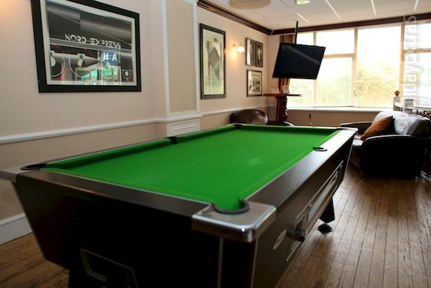 Play pool at the Britannia Hotel