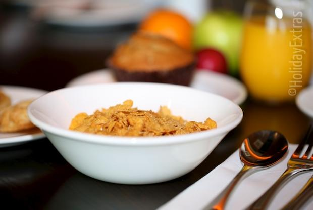 A healthy breakfast at the Doubletree by Hilton