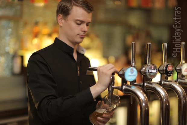 Enjoy a drink at the Marriott Gosforth Park