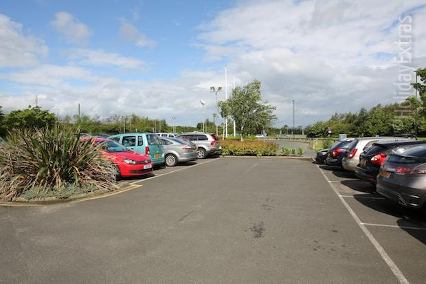 The car park at the Premier Inn