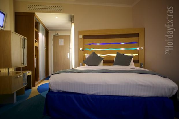 A double room at the Radisson Blu