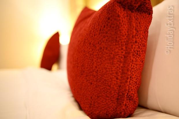Fluffy pillows at the Radisson Blu