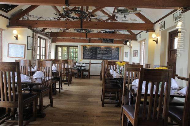 The restaurant at the Warmans Barn