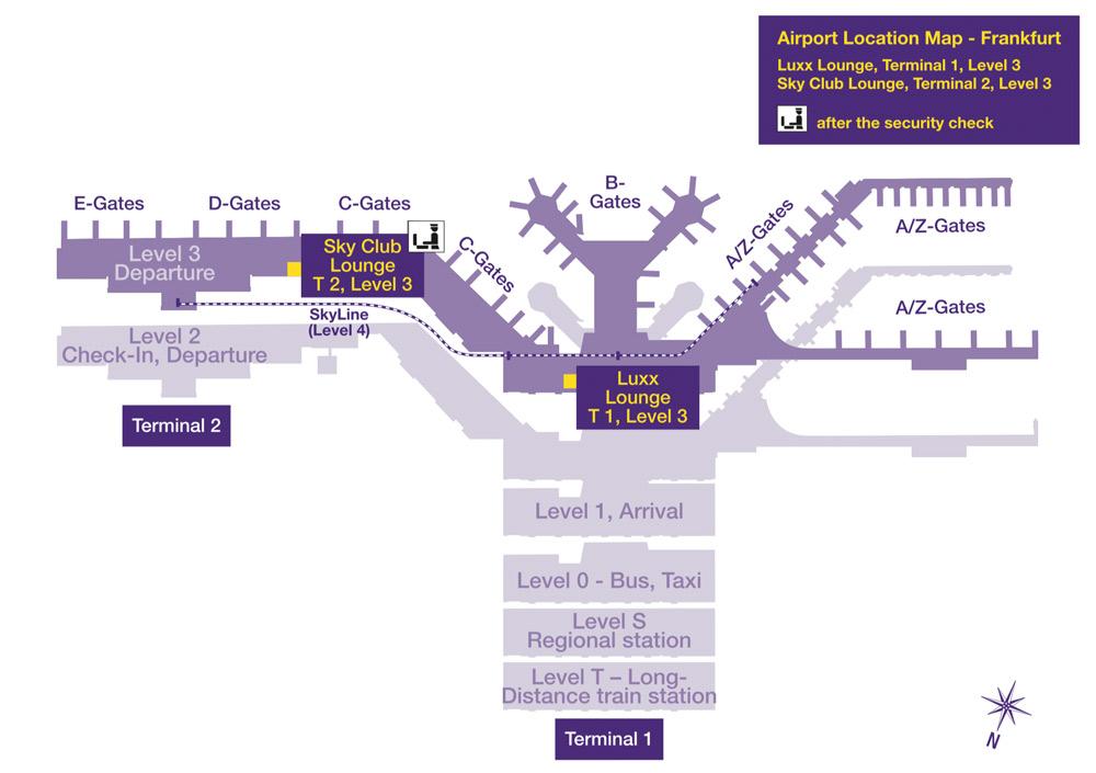 Flughafen Frankfurt Ankunft Terminal 1 Plan