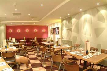 A Gatwick airport hotel restaurant
