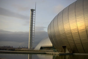 The Glasgow Science Centre. Used under creative commons license from Bruce Cowan