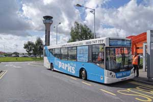 The Airparks Luton transfer bus