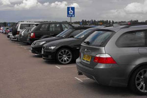 The Luton airport Long Stay car park