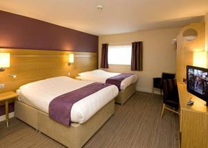 A room at the Premier Inn Manchester airport