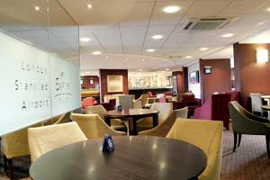 The lounge at the Holiday Inn Express Stansted