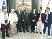 Wartime heroes gather for the unveiling of Stansted commemorative plaques