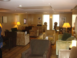 Executive lounge at the Gatwick Hilton