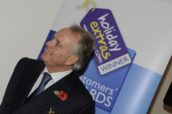 Holiday Extras' non-executive chairman Gerry Pack attends the Holiday Extras Customers' Awards