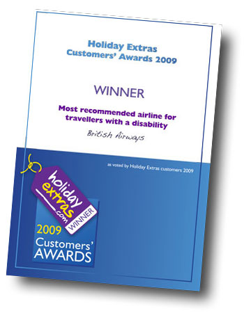 Holiday Extras certficate