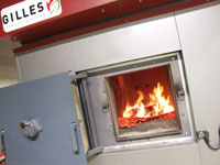 The biomass boiler at Stansted Airport has helped cut gas consumption by 40%