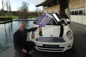 Win a mini in the Holiday Extras on line competition
