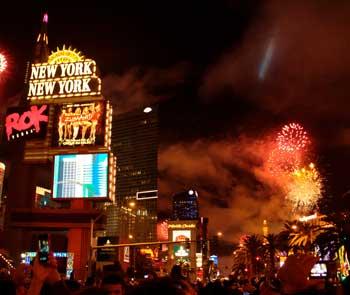 Vegas erupts