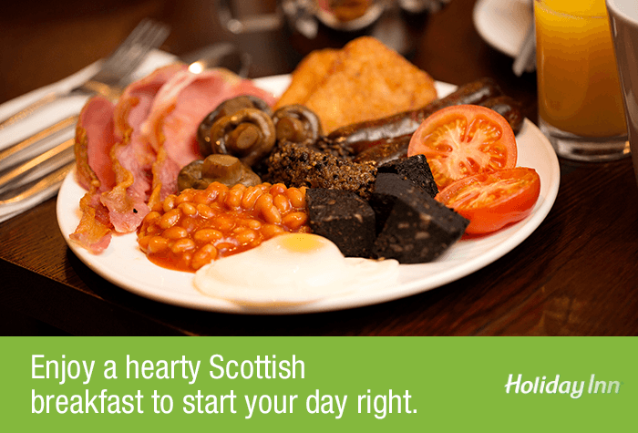 Scottish Breakfast at the Glasgow Airport Holiday Inn