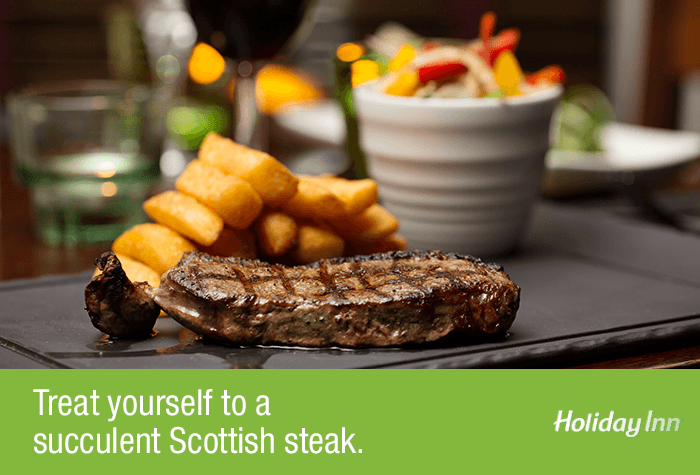 Steak at the Glasgow Airport Holiday Inn