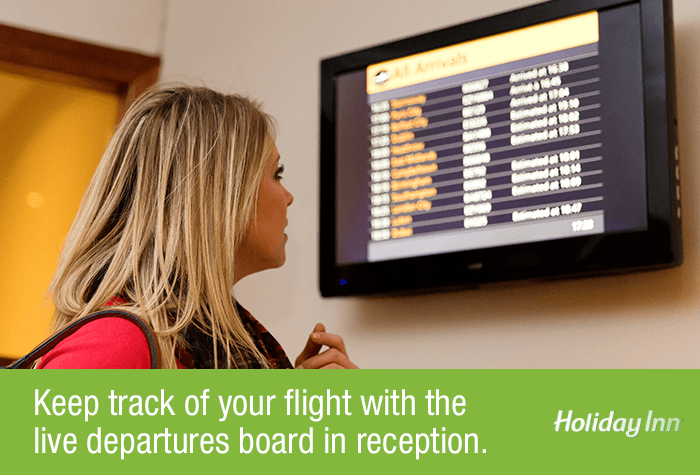 Glasgow Airport Holiday Inn Departure Board