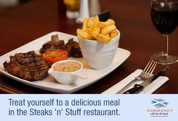 Steak dinner at Normandy Hotel Glasgow Airport