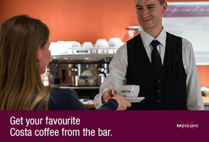 Costa Coffee available at the Mercure London Heathrow Airport