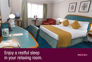 A room at the Mercure London Heathrow Airport